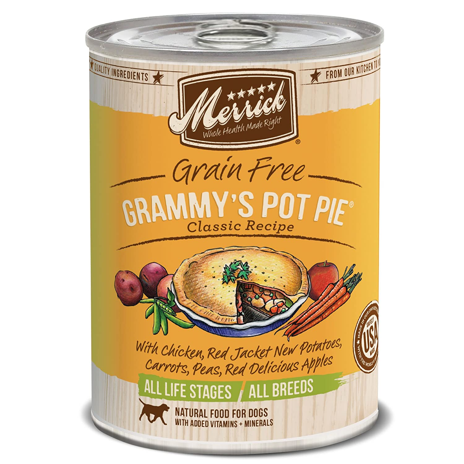 2.Merrick Grain-Free Grammy's Pot Pie Recipe Canned Dog Food