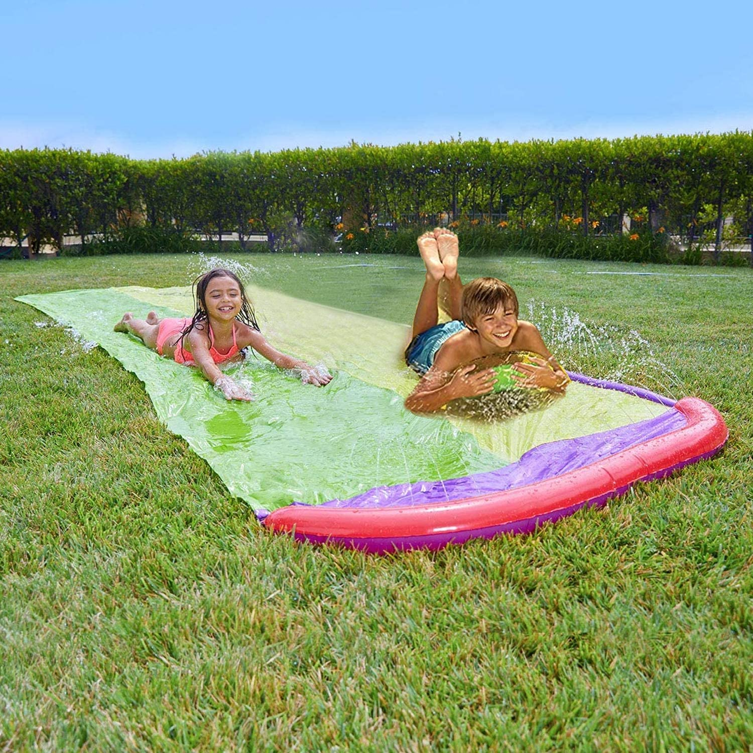 SOARRUCY Water Slip and Slides for Kid Adults,Colorful ...