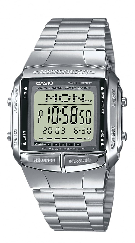Casio–Reloj de cuarzo para hombre con esfera LCD pantalla Digital y correa