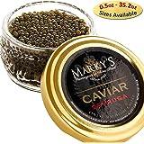 Marky's Sevruga Premium Sturgeon Black Caviar - 1 Oz Malossol Sturgeon Black Roe – GUARANTEED OVERNIGHT