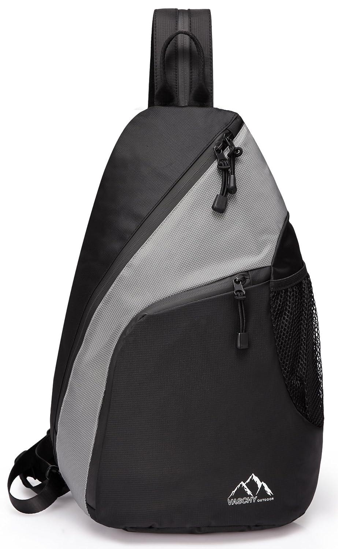 Sling Bag,Vaschy Mini Backpack Water Resistant Chest Bag for Sports Cross-body Bag