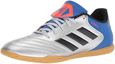 adidas Men s Copa Tango 18.4 Indoor Soccer Shoe Silver  Metallic Black Football Blue 7 bfd96f433b
