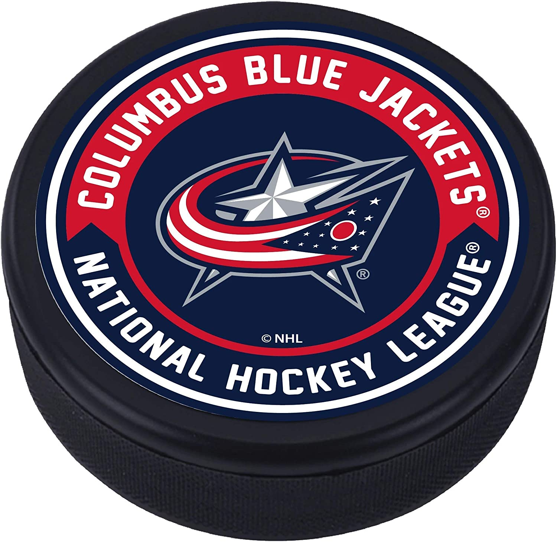 Columbus Blue Jackets Arrow Textured Puck