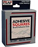 Adhesive Squares AS-200-H12-DB 200 Count 1/2 x 1/2-inch Low Profile, High Tack Roll