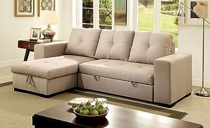 Amazon.com: Esofastore Living Room Reversible Storage Chaise ...