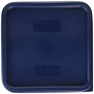 Cambro SFC12453 Covers, Set of 2 (For 12, 18 & 22-Quart Containers, Midnight Blue, Polyethylene, NSF)