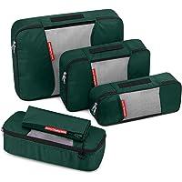 Travel Packing Cubes, Gonex Luggage Organizers L+M+2Slim+Laundry Bag Dark Green