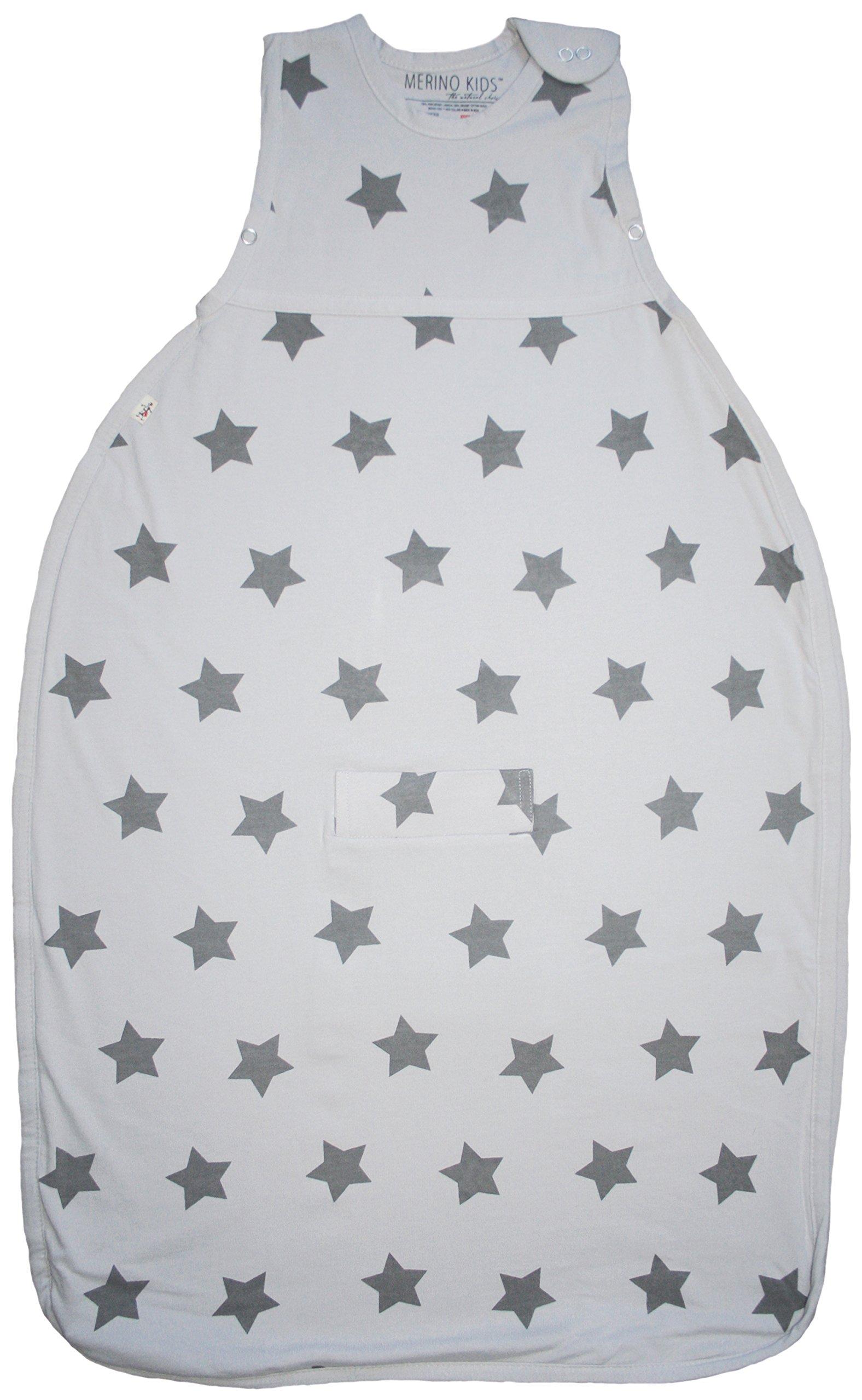 Merino Kids Starry Nights Baby Sleep Bag For Toddlers 2-4 Years, Moon Rock