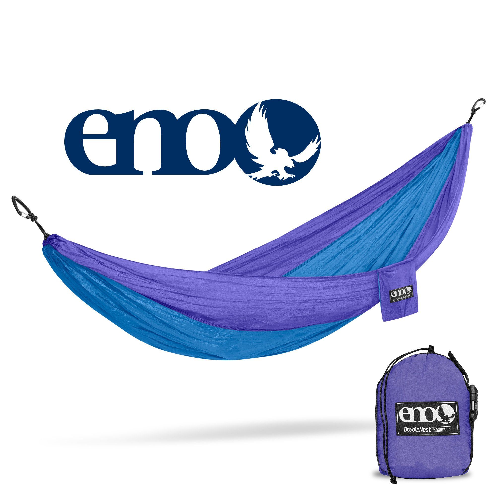 Eagles Nest Outfitters ENO DoubleNest Hammock, Portable Hammock for Two, Purple/Teal (FFP)