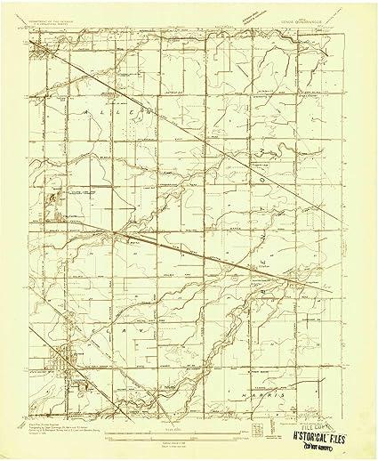 Genoa Ohio Map.Amazon Com Ohio Maps 1935 Genoa Oh Usgs Historical Topographic