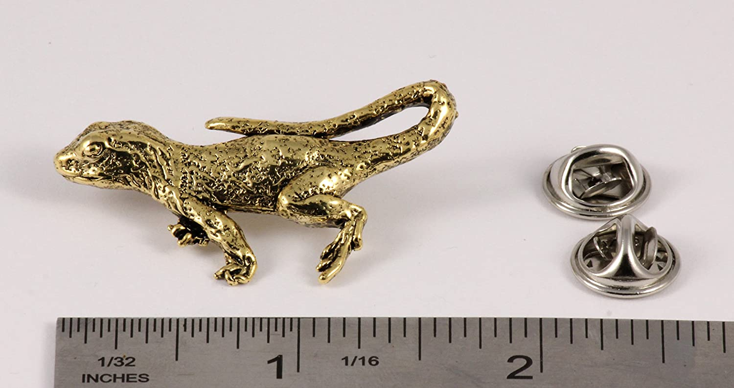 A070 Jewelry Alligator Reptile Pewter Lapel Pin Brooch