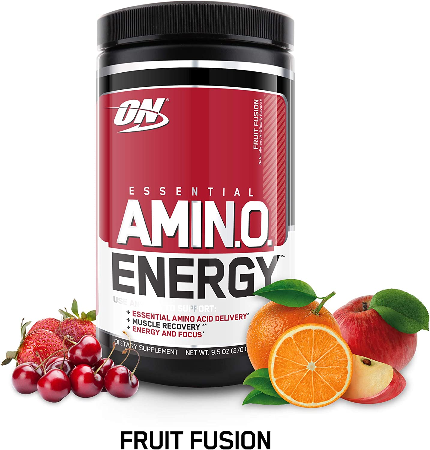 OPTIMUM NUTRITION ESSENTIAL AMINO ENERGY, Fruit Fusion, Keto Friendly Preworkout and Essential Amino Acids with Green Tea and Green Coffee Extract, 9.5 Ounce (Pack of 1)
