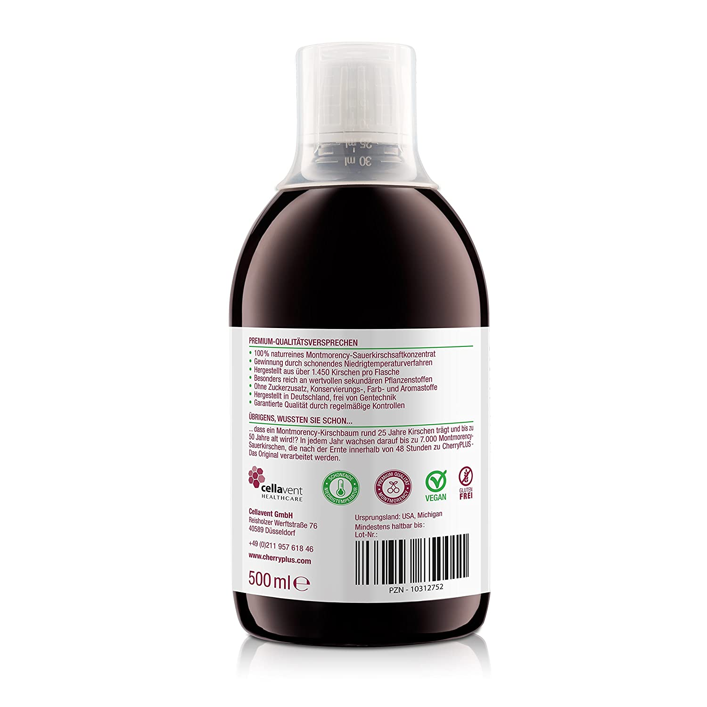 Cereza Plus Montmorency concentrado (473 ml). Sobre Plus de 1450 Montmorency Griottes.: Amazon.es: Salud y cuidado personal