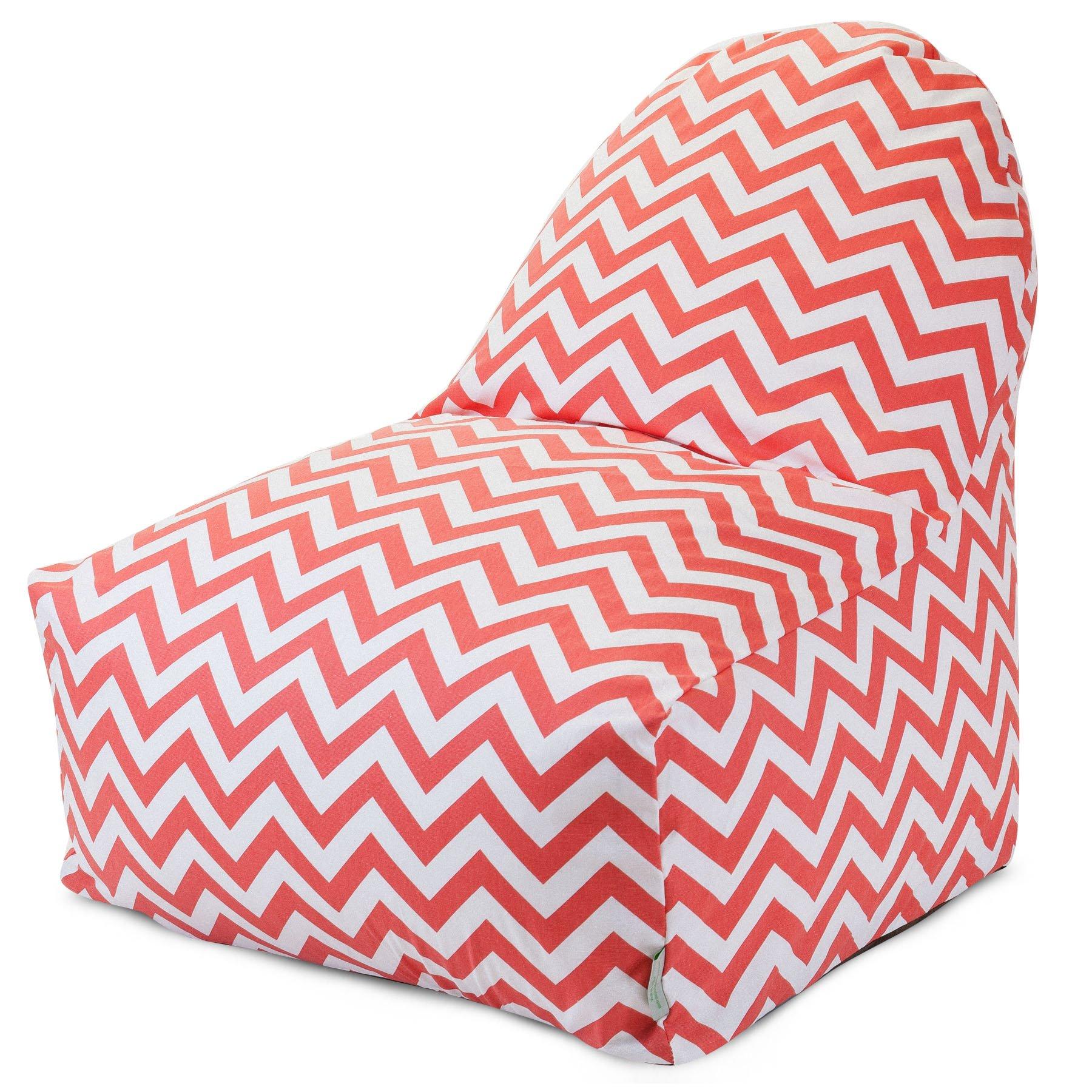 Majestic Home Goods Coral Chevron Kick-It Chair