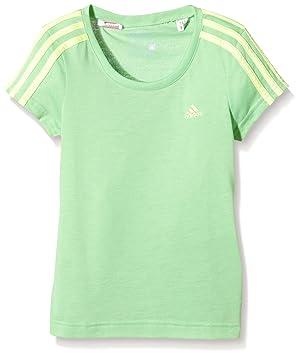 Adidas niña Essentials 3 de Rayas Camiseta de Verde Verde Talla:5 años (110 cm): Amazon.es: Deportes y aire libre