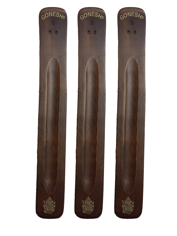 人気アイテム 3パックGonesh Burner Incense Burner ~ Traditional 3パックGonesh Incense Holder with Traditional Inlaidデザイン~約11インチ、のさまざまなデザイン B0764TNLBT, ワインマルシェまるやま:d5951f54 --- aemmontagens.com.br