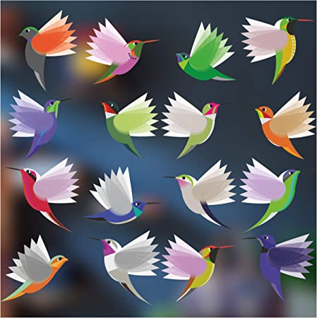 Stickers pour fen/être 16 Grandes Superbes Stickers /électrostatiques d/écoratifs au Motif Papillons Permet d/'/éviter Que Les Oiseaux ne Se cognent dans Vos fen/êtres