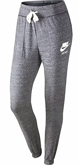 newest 6f8ef f51b1 Nike Women s Sportswear Gym Vintage Pant Carbon Heather Sail Size Small