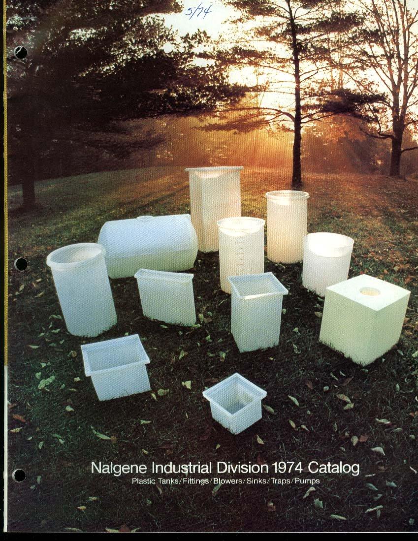 Nalgene Industrial Division Catalog 1974 Plastic tanks sinks traps