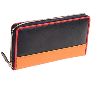 1f1c85bdc80 Tommy   Kate Ladies Navy   Tan Contrast Leather Purse  Amazon.co.uk   Clothing