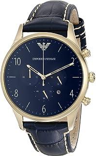 Emporio Armani Mens AR1862 Sport Blue Leather Watch