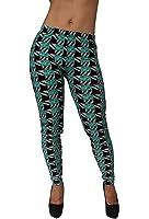 Sexy High Waist Long Women's Black/ Green Fashion Leggings Pants Tights LGP-2004