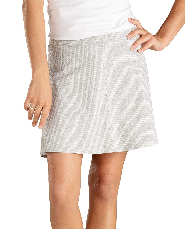 Heather Grey Mini Stripe Toad&Co Women's Seleena Skort