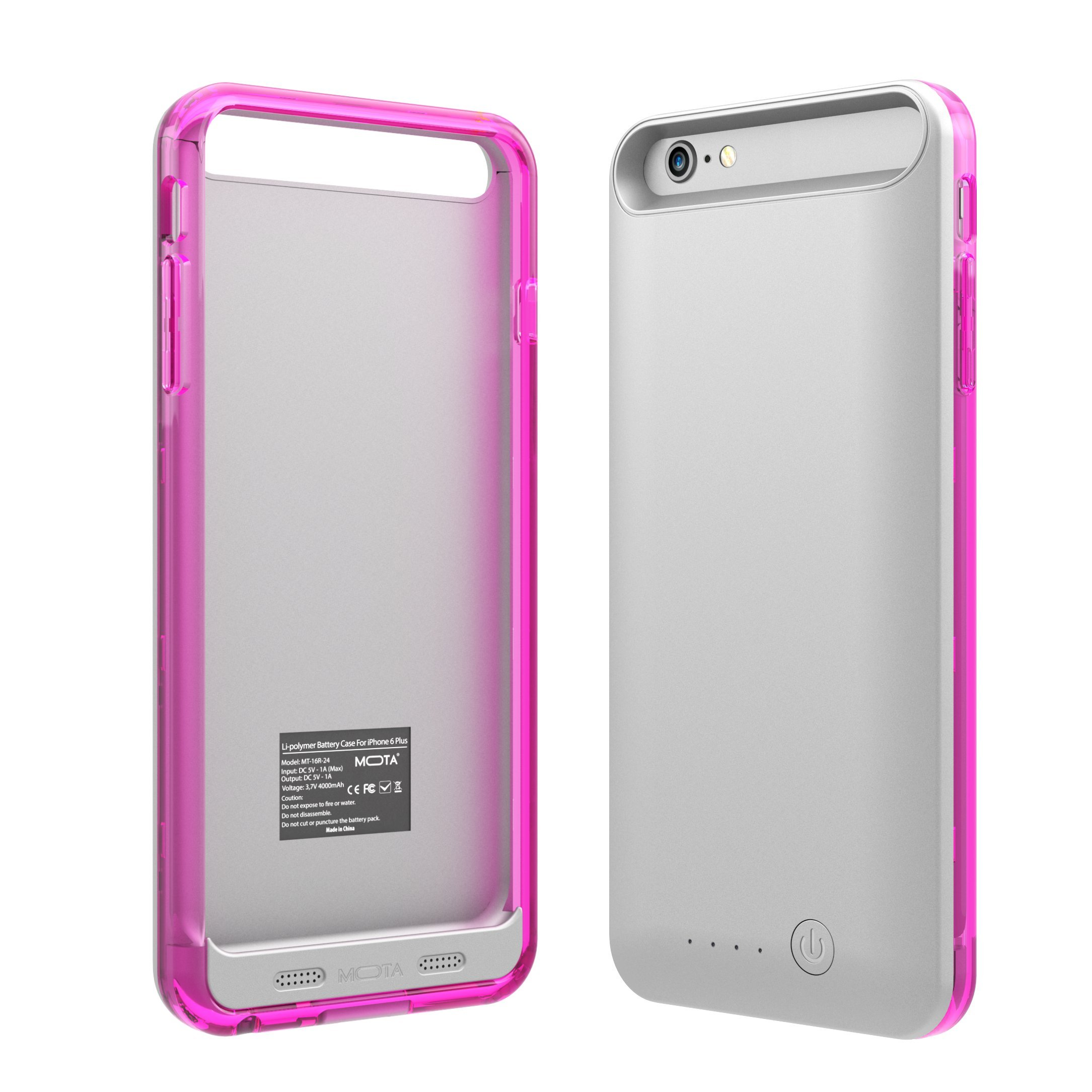 TAMO iPhone 6/6s Extended Battery Case, TAMO 2400 mAh dual-purposed Ultra-Slim Protective Extended Battery Case - Pink - Battery - Retail Packaging - Pink by TAMO (Image #6)