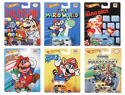 Hot Wheels Pop Culture Complete Set of 6: Super Mario Brothers