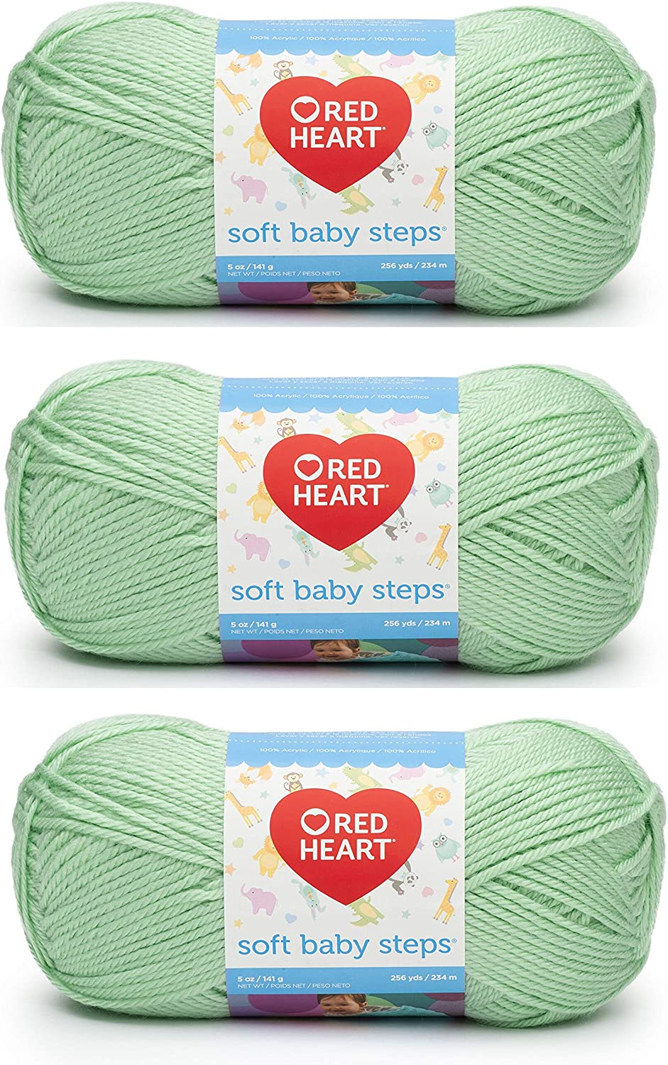 You choose the color Red Heart Soft Baby Steps Yarn