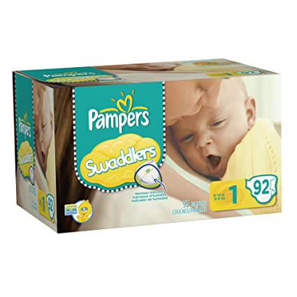 Pampers Swaddlers Diapers Big Pack Size 1 92 Count by Pampers