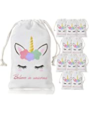 Unicorn Party Favor Bags for Kid's Birthday Party Decoration 10 Pack