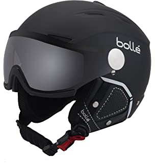 82b742d2220 Amazon.com  Bolle Blackline Visor Ski Helmet - Soft Black   Silver ...