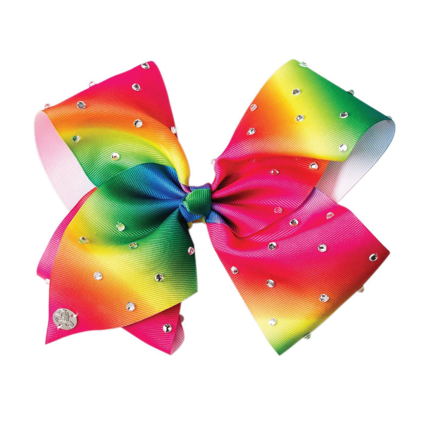 Nickelodeon JoJo Siwa Giant Rhinestone Bow Hair Clip, Rainbow, OSFM