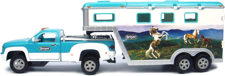 Breyer Horse Trailer Truck Vehicle Carries 3 Girls Gift Toy Series Doors Open