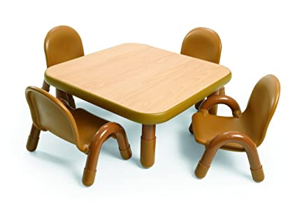 Amazon.com: Angeles Toddler Table & Chair Set NATURAL: Toys & Games