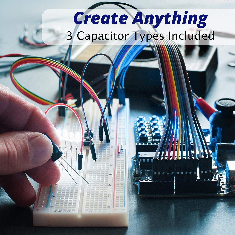 Joe Knows Electronics 33 Value 645 Piece Capacitor Kit