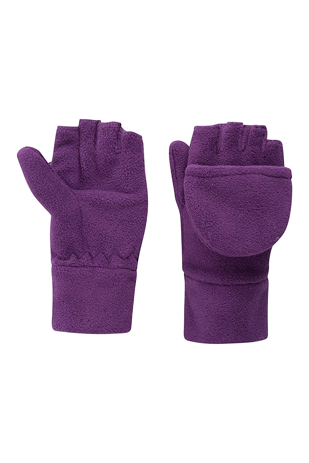 Mountain Warehouse Fingerless Fleece Kids Mitten - Convertible Design, Soft Fleece Fabric for Warm with Elasticised Band - Perfect for Kids Hand Warm & Comfortable