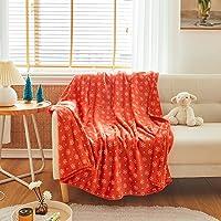 Uozzi Bedding All-Season Christmas Pink Flannel Fleece Baby Blanket for Girls & Boys - Ultra Soft Plush Thin Kids…