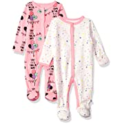 Rosie Pope Baby Girls 2 Pack Coveralls, Pink Yay Its Your Day, 0-3 Months
