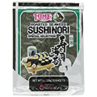 Hime Seaweed Sushi Nori, 10 Sheets, Net. Wt.,1 Ounce (Pack of 1)