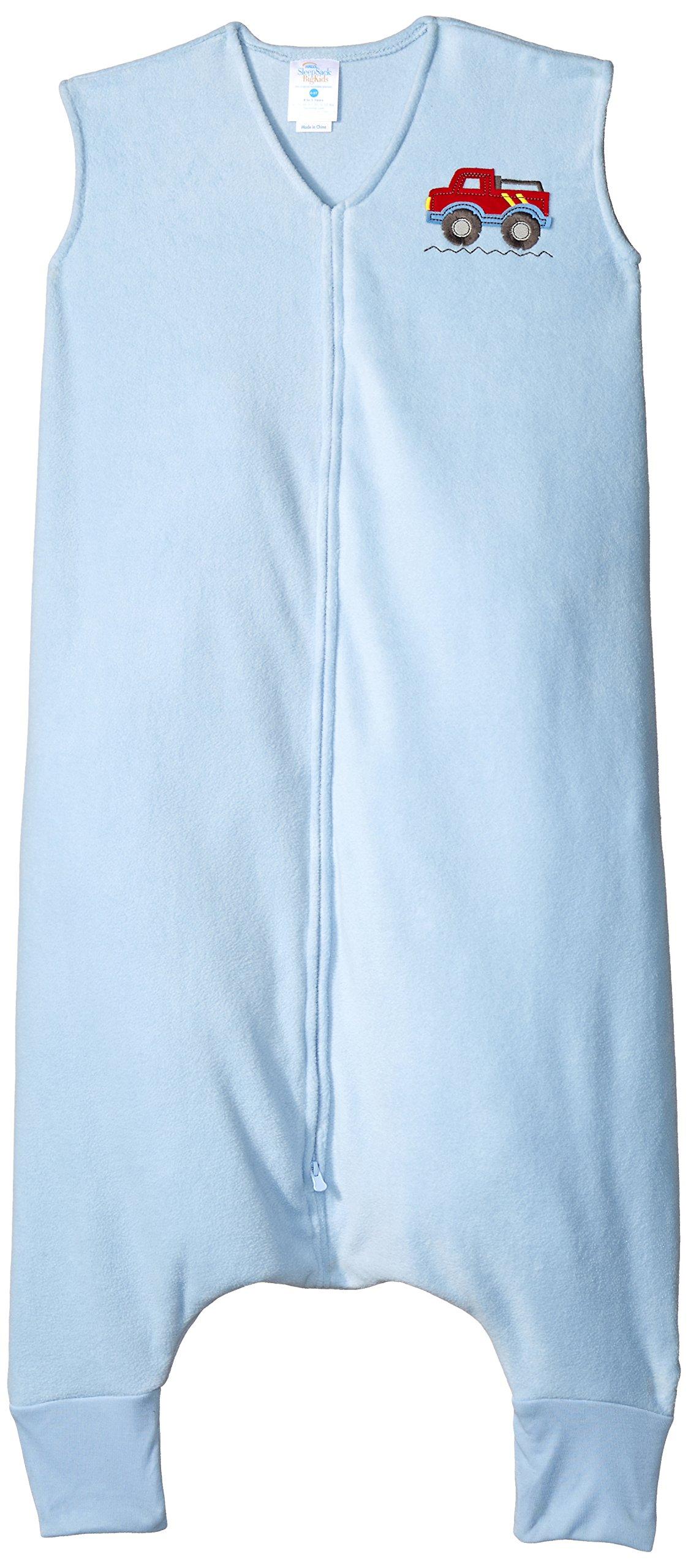 HALO Big Kids Sleepsack Wearable Blanket Micro Fleece, Blue, 4-5T by Halo