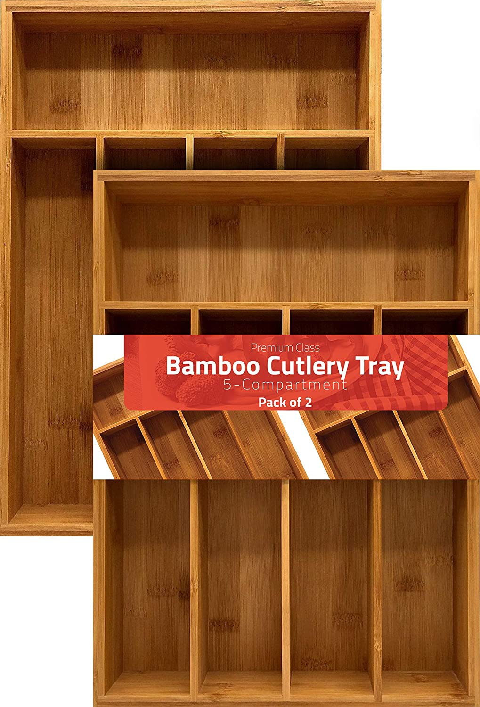 Bamboo Silverware Organizer Hardware Organizer Cutlery Tray Lot Utopia Kitchen