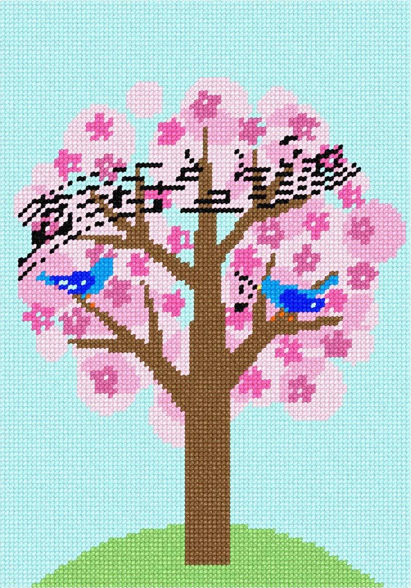 Pepita Birds Singing Tree Needlepoint Kit Pepita Needlepoint