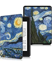 DHZ Case for Kindle Paperwhite 10th Generation 2018 New Version(no fits 2012-2017 All Paperwhite Old Model) - The Lightest Pu Leather Cover for All-New Amazon Kindle Paperwhite 2018,Starry Night