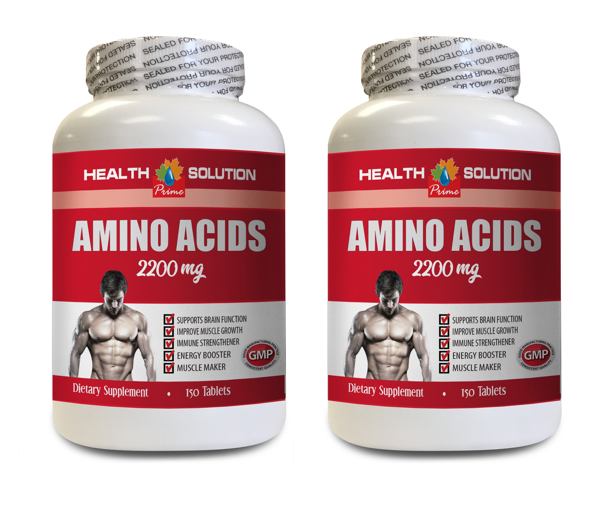 Workout Supplements for Men Muscle - Amino Acids 2200 Mg - Muscle Maker - Amino Acids Bodybuilding - 2 Bottles 300 Tablets