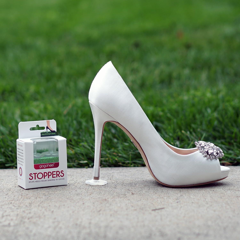 GoGo Heel Stoppers Fersenschutz verhindert das Einsinken in Gras