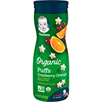 Gerber Organic Puffs 42g Cranberry Orange