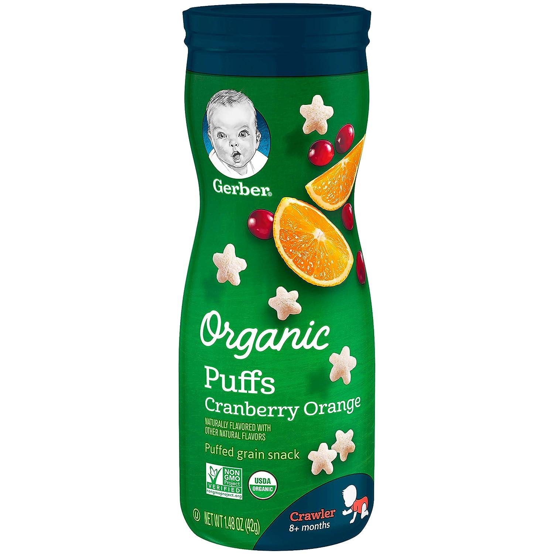 Gerber Organic Puffs, Cranberry Orange, 1.48 oz