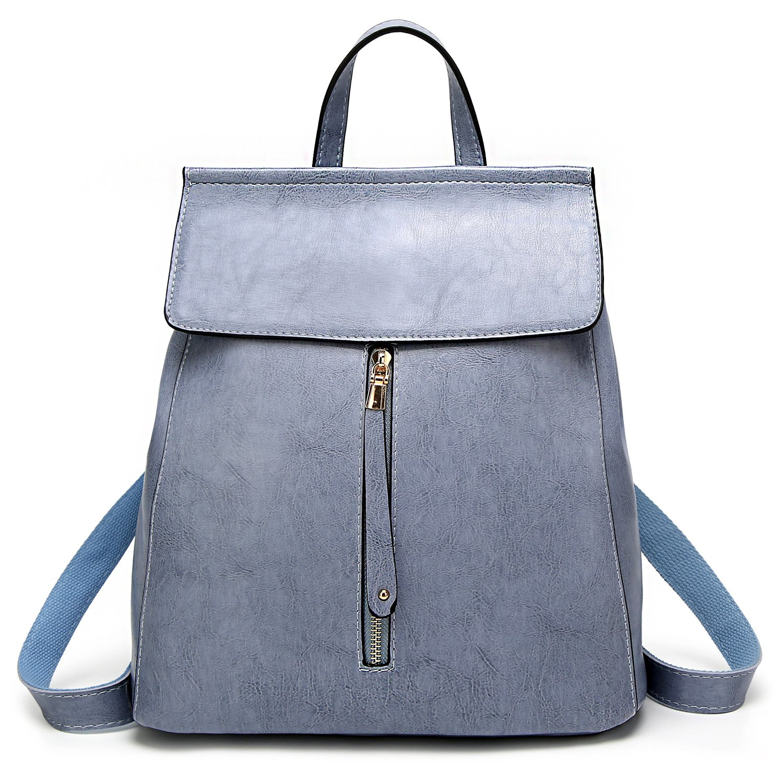ELOMBR Women Backpack Purse Casual Shoulder Bag Ladies Rucksack School Bag for Girls RMB003-Black